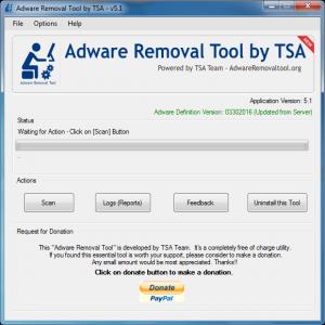 Adware Removal Tool by TSA 5.1 Screenshot